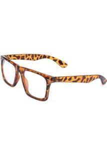 Óculos Ray Flector W3450 Caramelo - Feminino-Caramelo