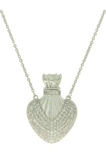 Colar Lihanna Perfumeiro Zirconia Cristal Rodio Pj1501