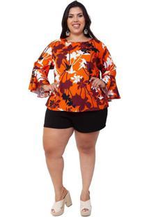 Blusa Almaria Plus Size Mais Na Moda Estampada Lar
