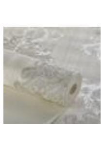 Papel De Parede Importado Lavavel Arabesco Prata E Cinza