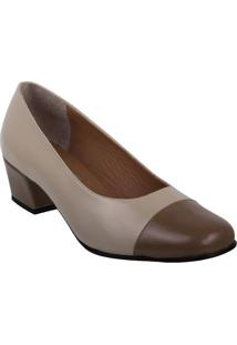Sapato Feminino Marinucci Nb45 - Marfim/Castor