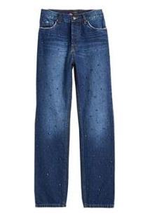 Calca Jeans Bordado Pedras Eva - Feminino