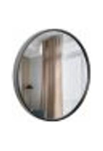 Espelho Decorativo Round Externo Preto 60 Cm Redondo
