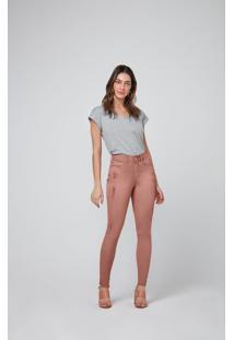 Calça Skinny Em Sarja Malwee Marrom - 46