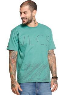 Camiseta Manga Curta Vlcs 18504 Masculina - Masculino-Verde