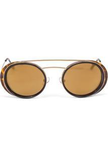 ca5fc28f4 ... Oculos Rounded Detalhe Lateral Preto/Dourado - Tu