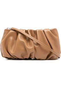 Staud Bean Ruched Shoulder Bag - Marrom