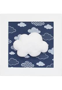 Quadro Decorativo Nuvem Marinho Quarto Bebê Infantil Menino