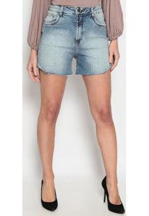 Short Jeans Com PuãDos- Azulenna