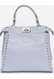 Bolsa Com Trançado - Azul Claro - 24X26X13Cmgriffazzi