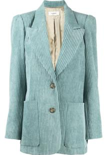 Isabel Marant Étoile Corduroy Single-Breasted Blazer - Azul