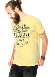 Camiseta Colcci Road Collective Amarela