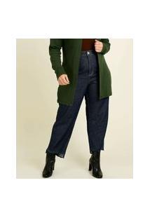 Calça Plus Size Feminina Wide Leg Uber Jeans