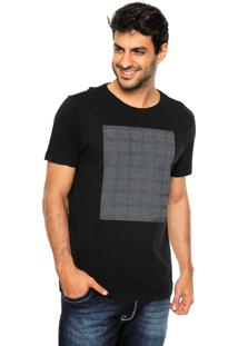 Camiseta Aramis Regular Fit Quadro Preta