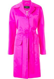 Rochas Belted Trench Coat - Rosa