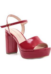 Sandália Meia Pata Texturizada - Vermelha - Salto: 1Cecconello