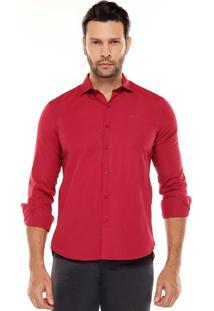 Camisa Manga Longa Remo Fenut Lisa Vermelha