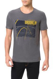 Camiseta Calvin Klein Jeans Estampa Brooklin Grafite - Pp