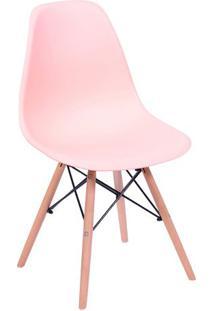 Cadeira Eames Dkr- Salmão & Madeira- 80,5X46,5X42Cm