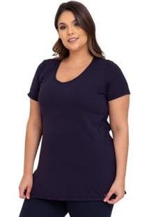 Camiseta Plus Size Mandala Cajubrasil Feminina - Feminino-Preto