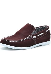 Docksider Casual Moderno Magi Shoes Confortável Bordo