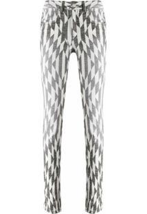 Isabel Marant Étoile Calça Jeans Skinny Paro Cintura Alta - Branco