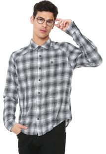 Camisa John John Reta Padronagem Cinza