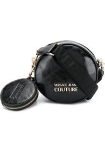Versace Jeans Couture Bolsa Tiracolo Redonda - Preto
