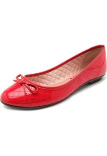 Sapatilha Moleca Matelass㪠Vermelha - Vermelho - Feminino - Dafiti