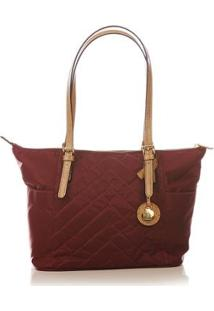 Bolsa Couro Blue Bags Nylon Matelassê Feminina - Feminino-Vinho