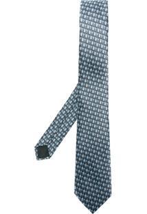 Lanvin Gravata De Seda Com Padronagem - Grey