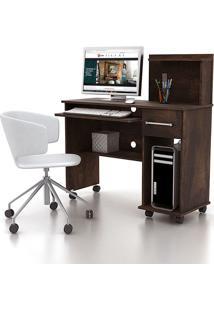 Mesa De Computador Studio Noce - Lukaliam Móveis