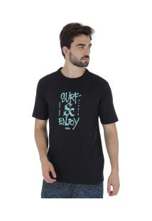 Camiseta Hurley Silk Surf And Enjoy - Masculina - Preto