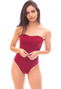 Body Moda Vicio Tomara Que Caia Com Recorte Frente Vermelho