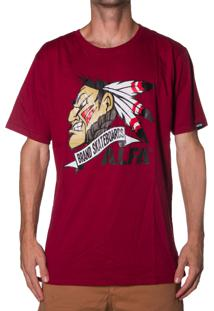 Camiseta Alfa Indio Brands Bordo