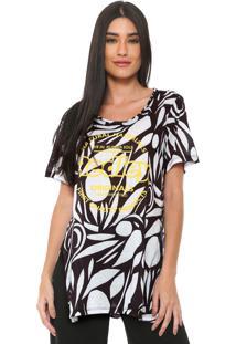 Camiseta Redley Originals Circle Branca/Preta