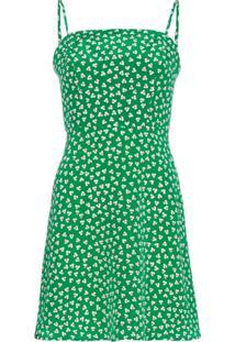 Hvn Vestido Nora Com Estampa Floral - Verde