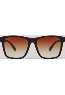 Óculos De Sol Quadrado Masculino Oneself Marrom
