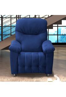 Poltrona Reclinável Virtus Matrix Azul