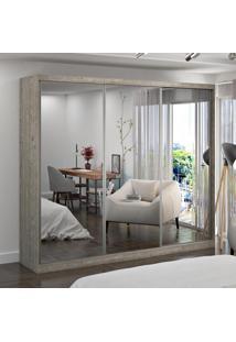 Guarda-Roupa Casal 3 Portas Com 3 Espelhos 100% Mdf 774G4E3 Demolição - Foscarini