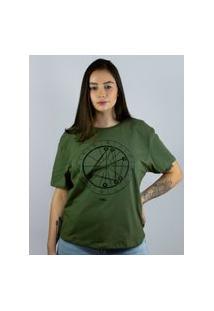 Camiseta Toneh Estampada Mapa Astral Verde Verde