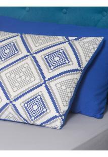 Fronha Ivvi Tex Pixel Estampada Adulto - 50 X 70 Cm Azul