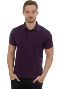 Camisa Polo Olimpo Camisaria Manga Curta Roxo