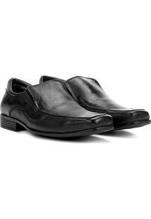Sapato Social Couro Walkabout Sem Cadarço Masculino - Masculino-Preto