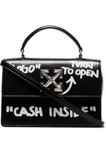 Off-White Bolsa Itney 1.4 Cash Inside - Preto