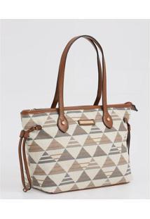 Bolsa De Ombro Textura Chenson - 10042176275 Feminina - Feminino-Marrom