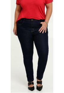 Calça Jeans Feminina Skinny Plus Size Uber