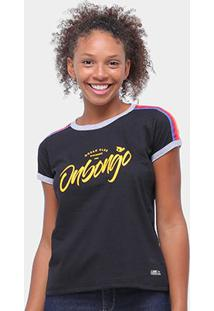 Camiseta Onbongo Ocean Club Feminina - Feminino-Preto