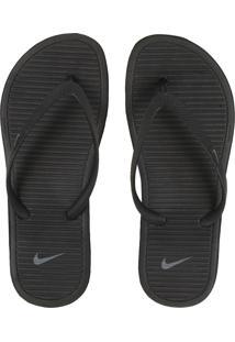 1b401b5405 ... Chinelo Nike Sportswear Solarsoft Thong 2 Wmns Preto/Cinza