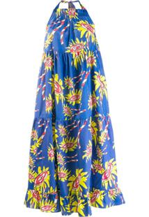 Mira Mikati Vestido Reto Com Padronagem - Azul